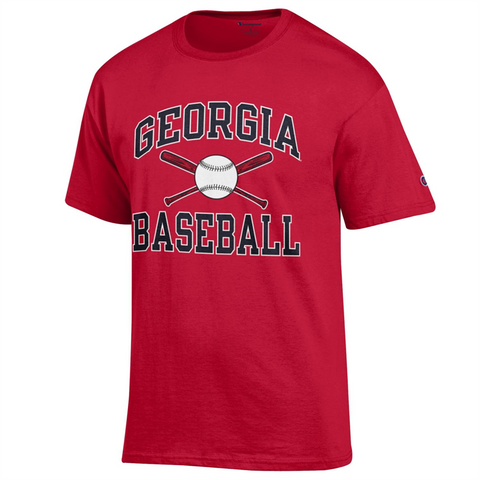 UGA Georgia Bulldogs Champion Baseball T-Shirt - Red