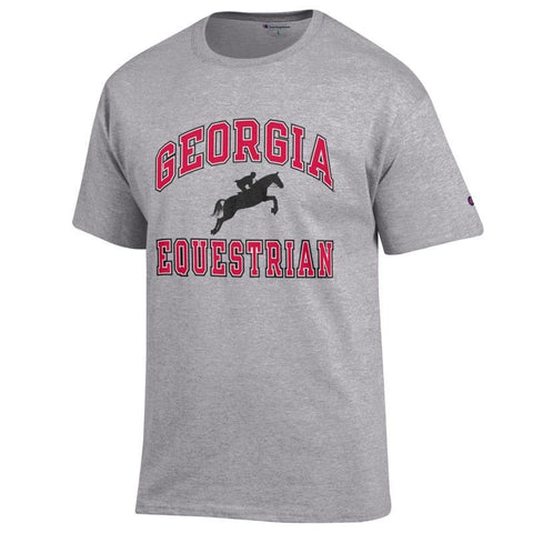 UGA Georgia Bulldogs Champion Equestrian T-Shirt - Gray