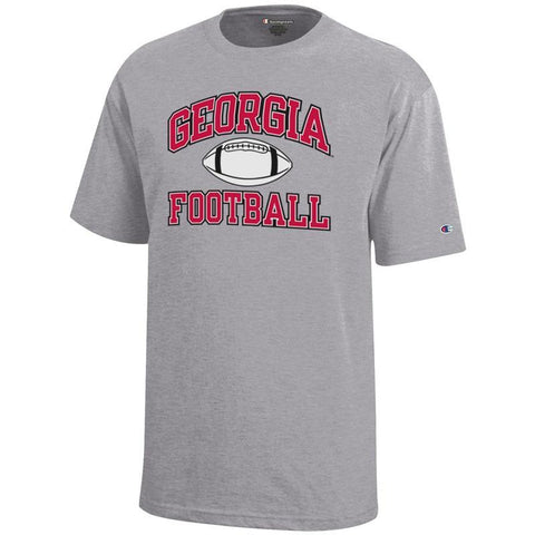 UGA Georgia Bulldogs Champion Football T-Shirt - Gray