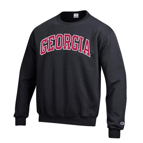 UGA Champion Arched GEORGIA Sweatshirt - Black