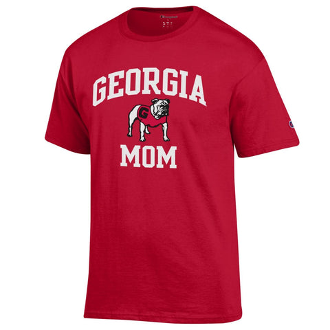 UGA Champion GEORGIA MOM T-Shirt - Red