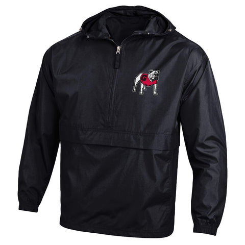 UGA Georgia Bulldogs Champion Hooded Rain Wind Jacket - Black