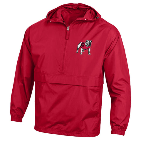 UGA Georgia Bulldogs Champion Hooded Rain Wind Jacket - Red