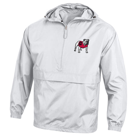 UGA Georgia Bulldogs Champion Hooded Rain Wind Jacket - White