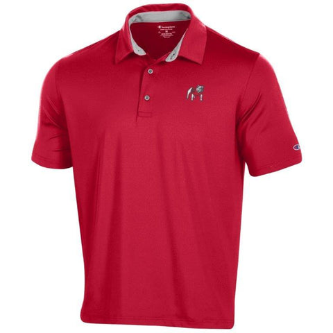 UGA Georgia Bulldogs Champion Solid Performance Polo - Red