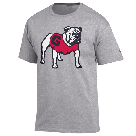 UGA Georgia Bulldogs Champion  T-Shirt - Gray