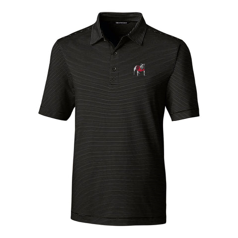 UGA Georgia Bulldogs Cutter & Buck Striped Polo - Black