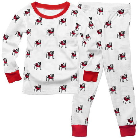 UGA Georgia Bulldogs Wes & Willy Youth Standing Bulldog Pajamas Set