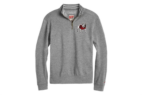 UGA Georgia Bulldogs League Standing Bulldog 1/4 Zip Sweatshirt - Gray