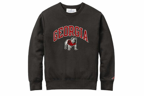 UGA Georgia Bulldogs League Standing Bulldog Stadium Crew Sweatshirt - Black