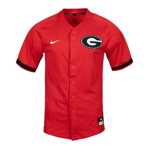 UGA Georgia Bulldogs Nike Elite Dri-FIT Baseball Jersey - Red