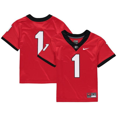UGA Georgia Bulldogs Nike Youth Replica #1 Football Jersey - Red