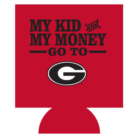 UGA My Kid And My Money Double-Sided Can Cooler