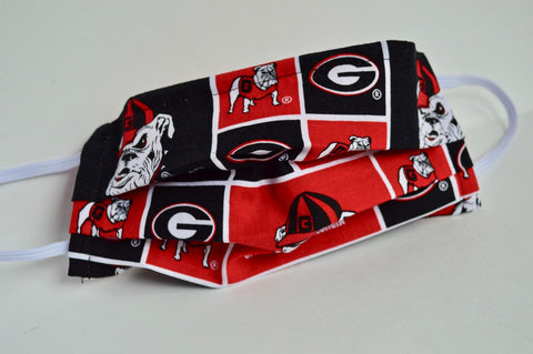 UGA Cloth Face Mask - Red/Black
