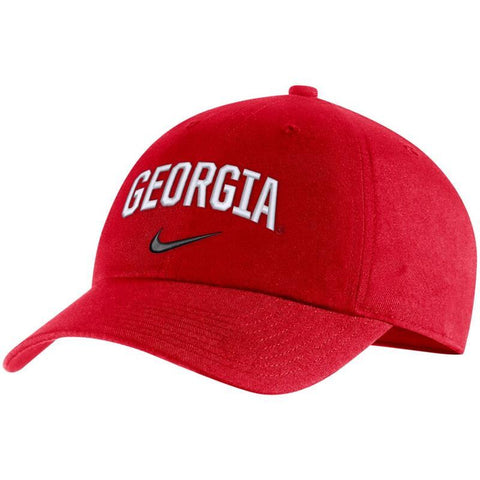 UGA Georgia Bulldogs Nike Cotton Arched Georgia Cap - Red