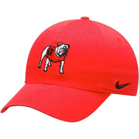 UGA Georgia Bulldogs Nike Cotton Standing Bulldog Cap - Red