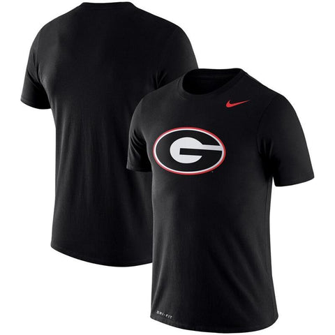 UGA Nike Oval G Dri-FIT Cotton T-Shirt - Black
