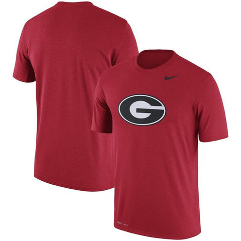 Georgia Nike Oval G Dri-FIT Cotton T-Shirt - Red