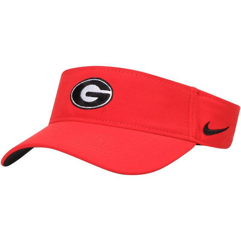 UGA Georgia Bulldogs Nike Dri-FIT Visor - Red