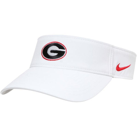 UGA Georgia Bulldogs Nike Dri-FIT Visor - White