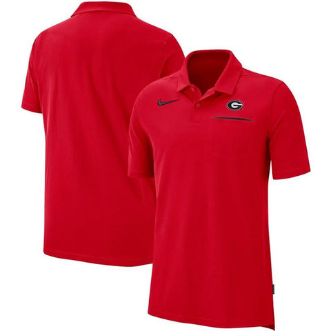UGA Georgia Bulldogs Nike Elite Coaches Sideline Performance Polo - Red