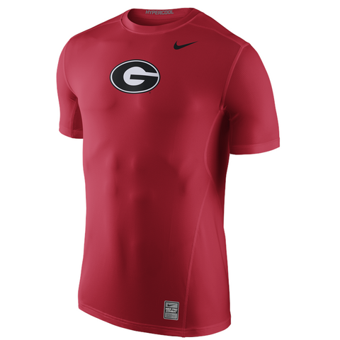 UGA Georgia Bulldogs Nike Oval G Logo Hypercool Top - Red