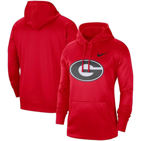 UGA Nike Oval G Logo Performance Pullover Hoodie - Red