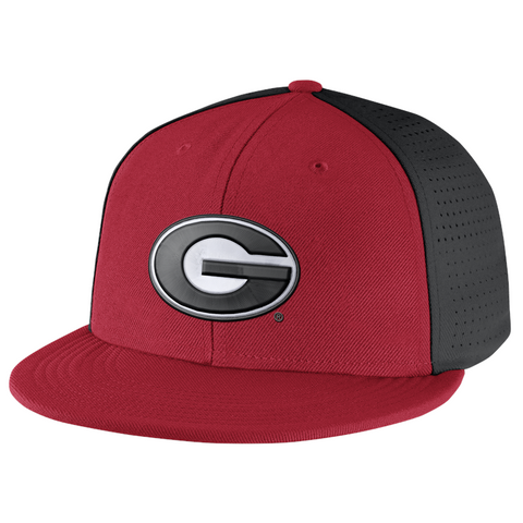 UGA Georgia Bulldogs Nike Players True Flex Fit Cap - Red & Black