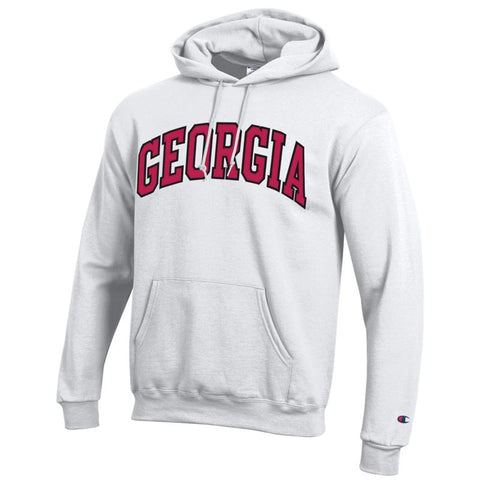 UGA Georgia Champion Arched GEORGIA Hoodie - White