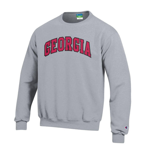 UGA Champion Youth Stitched GEORGIA Crew Sweatshirt - Gray