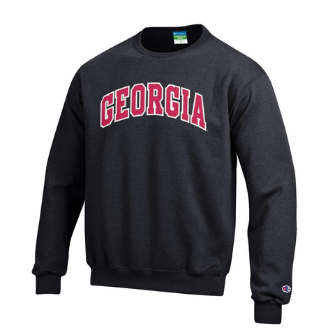 UGA Champion Youth Stitched GEORGIA Crew Sweatshirt - Black