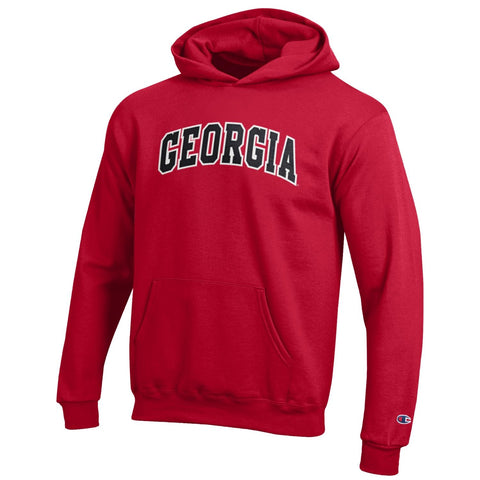 UGA Champion Youth Stitched GEORGIA Hoodie - Red