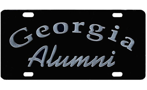 UGA Georgia Alumni Car Tag - Black