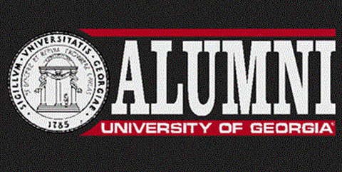 UGA Georgia Bulldogs Alumni Decal Sticker With Seal
