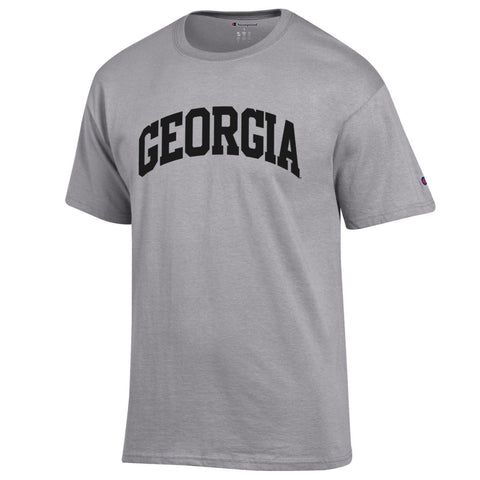 UGA Georgia Bulldogs Champion Arched GEORGIA T-Shirt - Gray