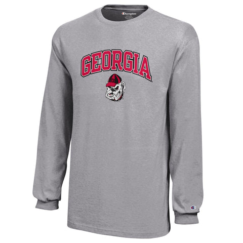UGA Champion Long Sleeve Youth T-Shirt