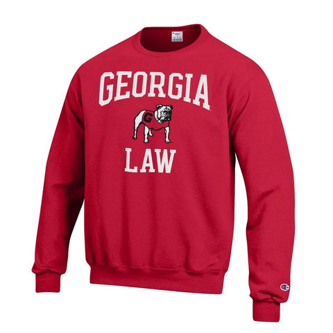 UGA Georgia Bulldogs Champion LAW & Standing Bulldog Sweatshirt - Red