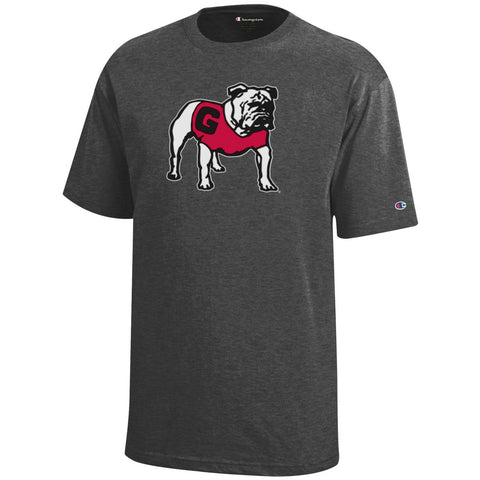 UGA Champion Youth Dry Fit T-Shirt - Charcoal (Only YXL)