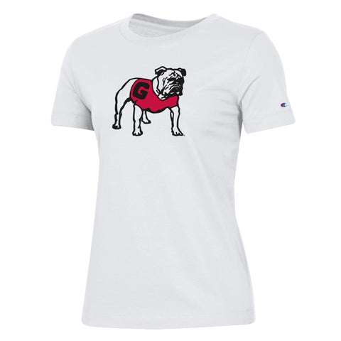 UGA Georgia Bulldogs Women's Champion T-Shirt - White