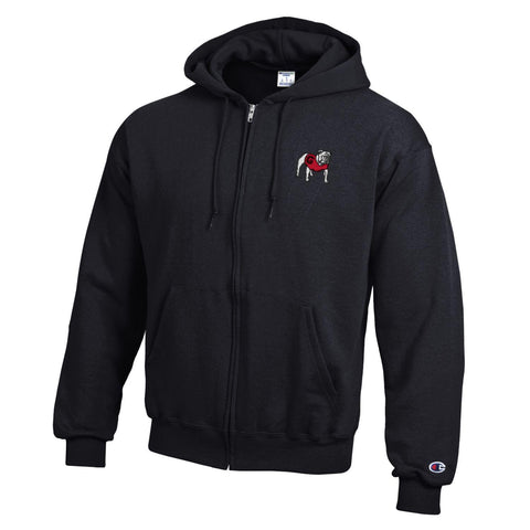 Georgia Champion Full-zip Hooded sweatshirt - Black