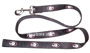 UGA Georgia Bulldogs Oval G Dog Leash - Black