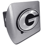 UGA Georgia Brushed Chrome Hitch Cover Oval G