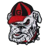 UGA Georgia Bulldogs Bulldog Head Embroidered Patch