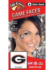 UGA Water Based Temporary Tattoos 4-Piece - Oval G