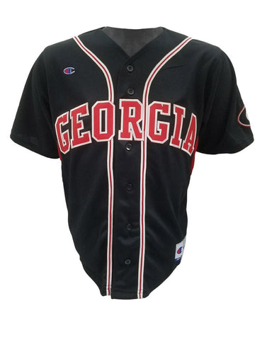 UGA Georgia Bulldogs Champion Baseball Jersey - Black