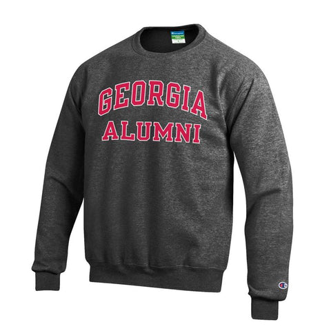 UGA Bulldogs Champion GEORGIA ALUMNI Crew Sweatshirt - Charcoal