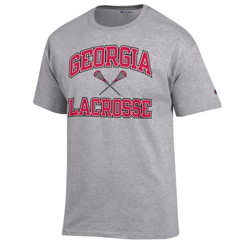 UGA Champion Lacrosse T-Shirt - Gray