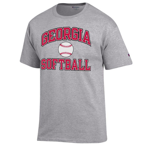 UGA Georgia Bulldogs Champion Softball T-Shirt - Gray