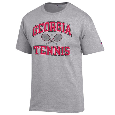 UGA Georgia Bulldogs Champion Tennis T-Shirt - Gray