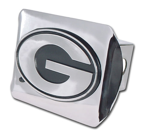 UGA Chrome Hitch Cover With Chrome Oval G